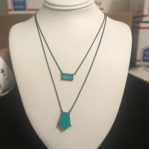 Teal blue necklace